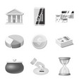 bank and money symbol vector image