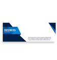 blue design modern business banner template vector image vector image