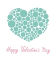 Blue heart made from many round dots Love card vector image vector image