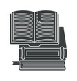 books pile isolated icon textbooks stack vector image