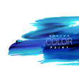 bright blue ink paint stain vector image vector image