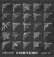calligraphic corners on chalkboard vector image vector image