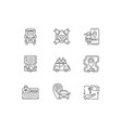 car sharing and rental service linear icons set vector image vector image