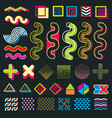 color minimal graphic memphis design elements for vector image vector image