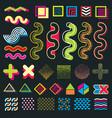 color minimal graphic memphis design elements for vector image