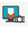 Computer and digital marketing design vector image vector image