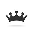 Crown of earl Black isolated silhouette on vector image vector image