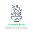 delicious avocado salad simple recipe vector image