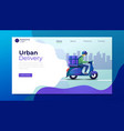delivery service landing page template vector image