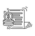 e-commerce financial icon hand drawn icon set vector image