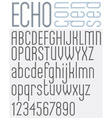 ECHO retro striped rounded font vector image