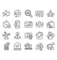 education icons set included icon as calculator vector image vector image