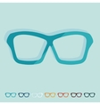 Flat design glasses vector image