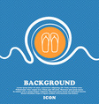 Flip-flops Beach shoes Sand sandals icon sign Blue vector image vector image