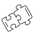 friendship puzzle icon outline style vector image vector image