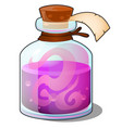 glass bottle with pink liquid closed tube with vector image vector image