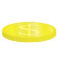 golden dollar coin vector image vector image