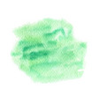 green abstract watercolor paint texture vector image