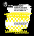 grunge checkered racing banner vector image vector image