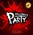 Halloween party blood red background vector image vector image