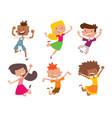 happy children in different positions big vector image vector image