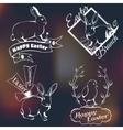 Happy easter logo vector image vector image