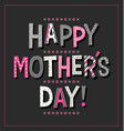 happy mothers day in doodle letters vector image