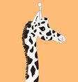 head graphics giraffe vector image