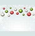 holidays winter background vector image vector image