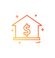 house dollar home icon design vector image