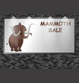 illuminated advertising billboard mammoth sale vector image vector image