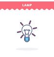 Light bulb icon flat design ui icon