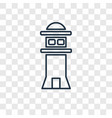 lighthouse concept linear icon isolated on vector image vector image