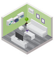 living room isometric composition vector image