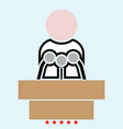 man speaking from the rostrum icon color fill vector image vector image