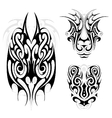 Maori tribal tattoo set vector image vector image
