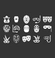 mask icon set grey vector image vector image