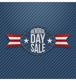 Memorial Day Sale festive Label with Ribbon vector image vector image