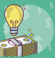 money and ideas concept vector image