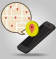 Navigator of Smartphone concept vector image vector image