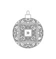 new year tree ball ornament vector image vector image