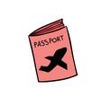 passport doodle vector image vector image