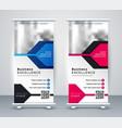presentation roll up banner design vector image vector image