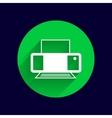 Printer icon document print vector image