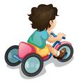 riding along vector image vector image