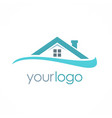 roof house business logo vector image