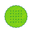 round biscuit sign lemon scribble icon on vector image vector image
