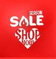 season sale offer shopping banner template vector image vector image