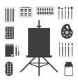 set black art things vector image