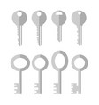 set different grey key icon isolated on white vector image vector image